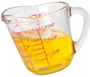 Мерная чашка для растительного масла
