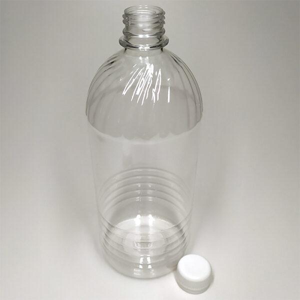 Бутылка ПЭТ 1000 мл выдувная прозрачная с горлышком 28 мм