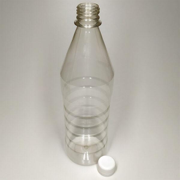 Бутылка ПЭТ 800 мл выдувная прозрачная с горлышком 28 мм
